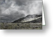 Rocky Mountains Greeting Cards Greeting Cards - Midnight Rock Greeting Card by Andrea Hazel Ihlefeld