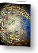 Star Sculpture Greeting Cards - MIDNIGHT STORM 3 of 3 Greeting Card by Daniel Lafferty