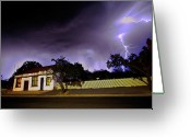 Lightening Storm Greeting Cards - Midnight Storm Greeting Card by Tim Nichols