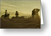 Gloaming Greeting Cards - Midsummer Evening Horse Ride Greeting Card by Paul Grand