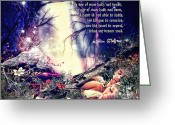 Shakespeare Greeting Cards - Midsummer Night Dream Greeting Card by Mo T