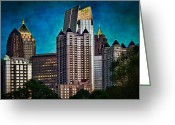 Mohawk Greeting Cards - Midtown Skyline Greeting Card by Doug Sturgess