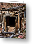 Old Mines Greeting Cards - Midwest Mine Shaft Greeting Card by Lana Trussell