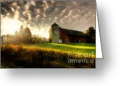 Silo Greeting Cards - Midwest Morning Greeting Card by Joel Witmeyer