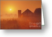 Southern Indiana Greeting Cards - Midwestern Rural Sunrise - FS000405 Greeting Card by Daniel Dempster