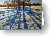 Great Painting Greeting Cards - Midwinter Greeting Card by Andrew Macara