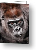 Lowland Greeting Cards - Mighty Joe Greeting Card by Julie L Hoddinott