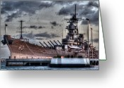Warship Greeting Cards - Mighty Mo Greeting Card by Phillips Photography