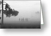 Migrant Greeting Cards - Migrant Camp Fog Greeting Card by Michael L Kimble