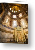 Aya Sofya Greeting Cards - Mihrab in the Hagia Sophia Greeting Card by Artur Bogacki