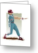 Citizens Bank Greeting Cards - Mike Schmidt Greeting Card by Scott Weigner