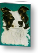 Vibrant Pastels Greeting Cards - Mikey Greeting Card by Christine Crosby