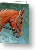 Horse Show Greeting Cards - Mikey Greeting Card by Richard De Wolfe