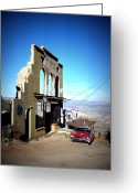 Reminiscing Greeting Cards - Mile High Jerome Arizona Greeting Card by Cindy Wright
