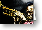 Trumpet Music Greeting Cards - Miles Davis Greeting Card by The DigArtisT