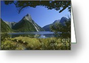 Rudi Prott Greeting Cards - Milford Sound  New Zealand Greeting Card by Rudi Prott
