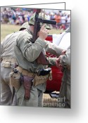 Tom Boy Greeting Cards - Military Small Arms 04 WW II Greeting Card by Thomas Woolworth