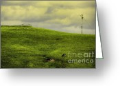 Green Pasture Greeting Cards - Milk Greeting Card by Andrew Paranavitana