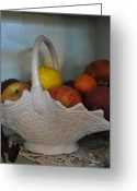 Terry Digital Art Greeting Cards - Milk Glass Greeting Card by Terry Anderson