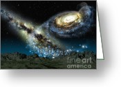 Milky Way Galaxy Greeting Cards - Milkomeda Greeting Card by Lynette Cook