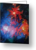Outerspace Greeting Cards - Milkyway Greeting Card by Hollis Fortune