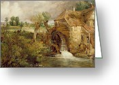 Peasant Greeting Cards - Mill at Gillingham - Dorset Greeting Card by John Constable