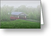 Maple Photographs Greeting Cards - Mill Creek Covered Bridge Union County Ohio Greeting Card by Brian Mollenkopf