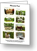 Gazebo Greeting Cards - Mill Creek Park Collage Greeting Card by Michael Vigliotti
