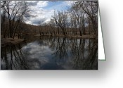 Michael Friedman Greeting Cards - Mill River Greeting Card by Michael Friedman