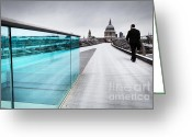 Williams Photo Greeting Cards - Millenium Commuter Greeting Card by Martin Williams