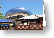 Sculture Greeting Cards - Millenium Park - Slice of Chicago Greeting Card by Suzanne Gaff