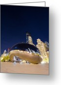 City Illusion Greeting Cards - Millennium Bean   Greeting Card by Drew Castelhano