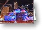 Sebastian Musial Greeting Cards - Millennium Park Greeting Card by Sebastian Musial