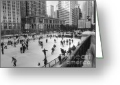 Michigan Avenue Greeting Cards - Millennium Skate Greeting Card by David Bearden