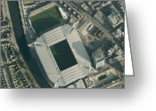 Birds Eye Greeting Cards - Millennium Stadium, Cardiff,aerial View Greeting Card by Getmapping Plc