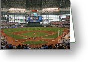League Greeting Cards - Miller Park Greeting Card by Steve Sturgill