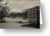 Kingston Greeting Cards - Millstone River 3 Greeting Card by Steven Richman