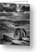 Mill Stone Greeting Cards - Millstones on the Moor Greeting Card by Andy Astbury