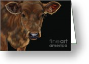 Cows Framed Prints Greeting Cards - Milo Greeting Card by Michelle Wrighton