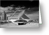 Art Museum Greeting Cards - Milwaukee Art Museum Infrared Greeting Card by Steve Sturgill
