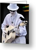 Portraits Photo Greeting Cards - Mime and Guitar Greeting Card by Kathleen K Parker