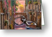 Canal Greeting Cards - Mimosa Sui Canali Greeting Card by Guido Borelli