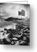 Minard Greeting Cards - Minard Castle Greeting Card by Simon Marsden