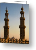 Middle East Greeting Cards - Minarets Greeting Card by Matteo Allegro