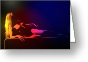 Nude Woman Digital Art Greeting Cards - Mind Art Roxanne Color Greeting Card by Stefan Kuhn