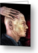 Head Greeting Cards - Mind Control Greeting Card by Bob Orsillo