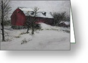 Gloaming Greeting Cards - Mind On Wintertime Greeting Card by Karen Newquist