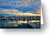 Tourist Pyrography Greeting Cards - Mindarie Sunrise Greeting Card by Imagevixen Photography