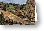 Old Mines Greeting Cards - Mine On The Mountain Greeting Card by Lana Trussell