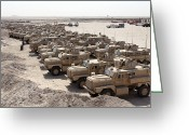 Iraq Greeting Cards - Mine Resistant Ambush Protected Greeting Card by Stocktrek Images